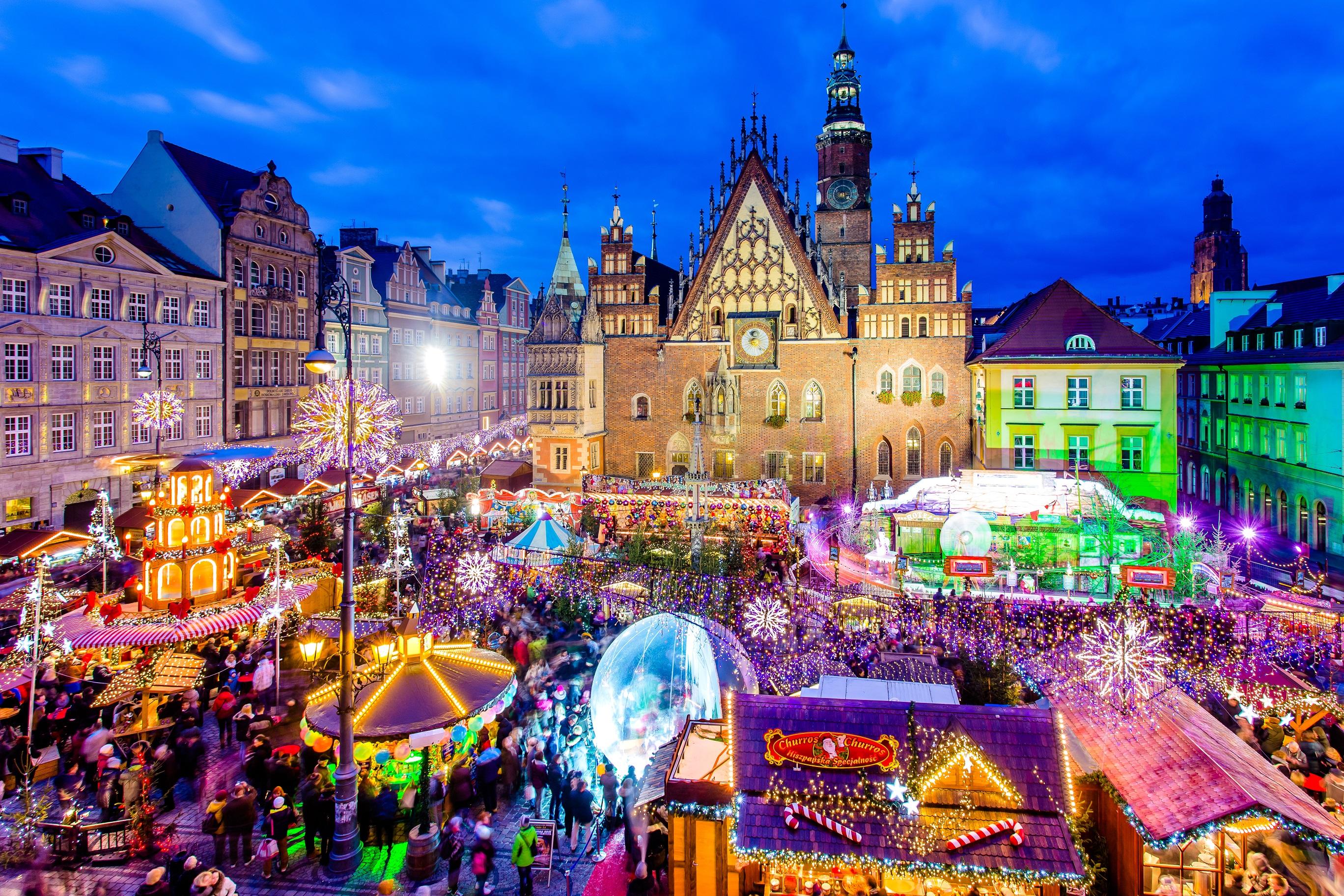 jarmark bożonarodzeniowy 2017 na wroc�awskim rynku nowe