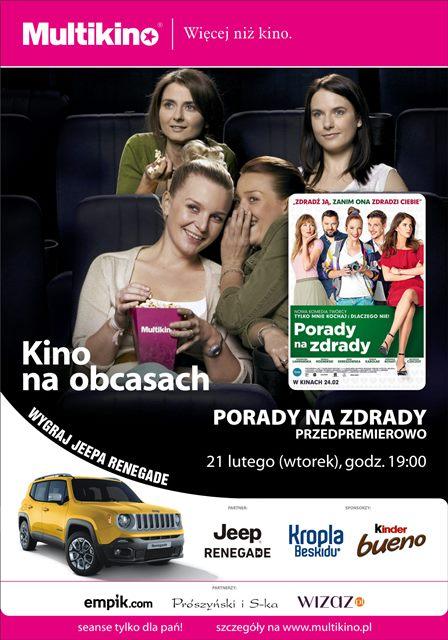 Kino na Obcasach_Porady na zdrady_PLAKAT