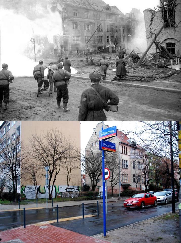 Sowieckie hordy nacierają na ulicę Pocztową (Wölfl Strasse)