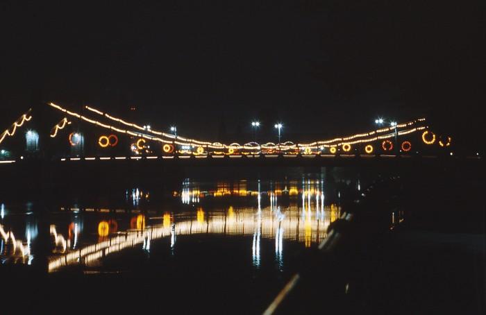 Dni Wroclawia oświetlony Most Grunwaldzki fot. Janusz Baleja