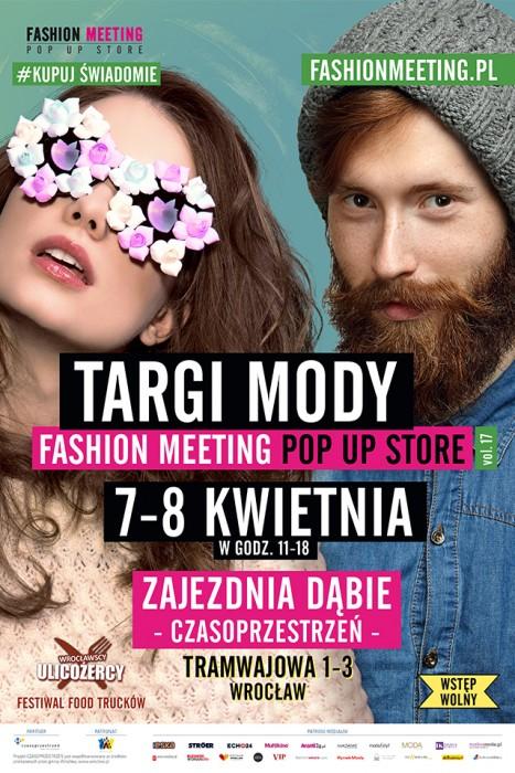 Fashion Meeting POP UP STORE - plakat B2 - napisy