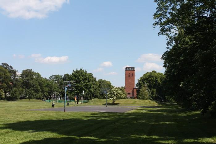 Centralny plac wraz z kościołem pamięci Gustawa Adolfa
