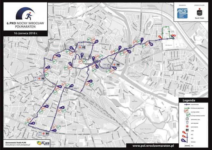 mapa - polmaraton