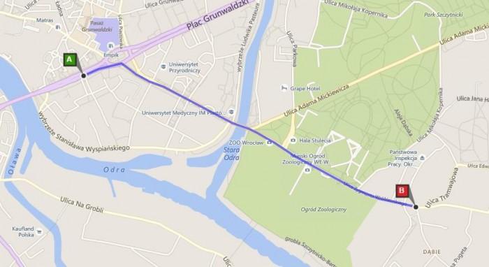 trasa mapa