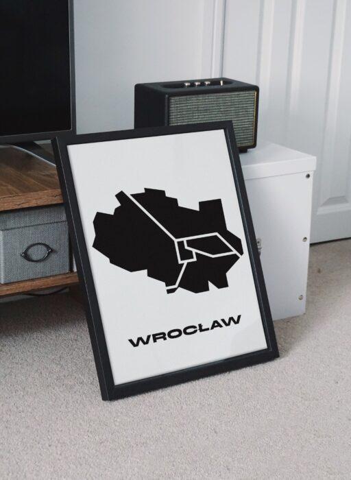 Plakat mapa Wrocławia
